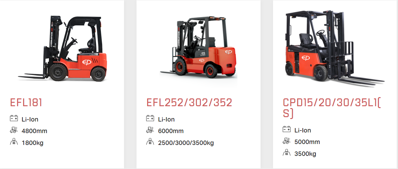 lith ion electric counterbalance forklifts